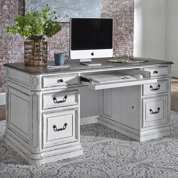 Belle Furnishings Magnolia Manor Jr Executive Desk in White, , large