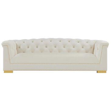 Tov Furniture Farah Velvet Sofa in Cream Velvet, , large