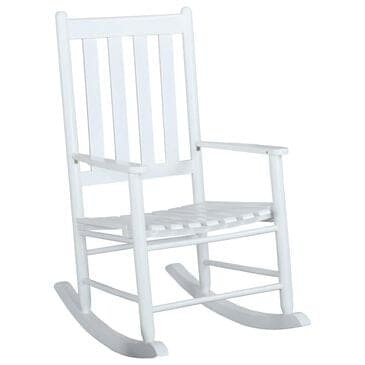 Pacific Landing Rocking Chair in White, , large