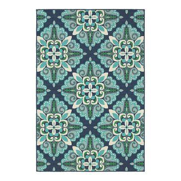 "Oriental Weavers Meridian 2206B 3'7"" x 5'6"" Blue Area Rug, , large"