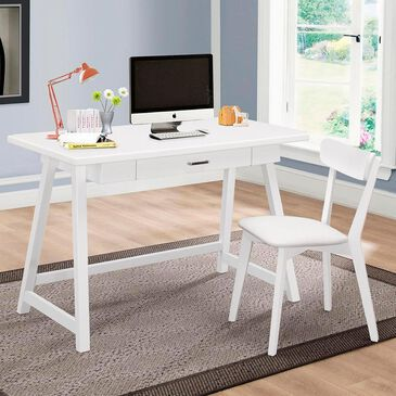 Living Essentials Siobhan Desk and Chair Set in White, , large