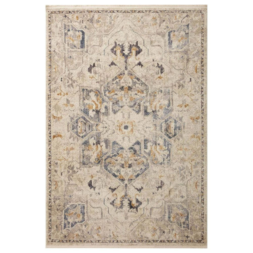 "Magnolia Home Janey JAY-01 2'7"" x 7'8"" Natural and Indigo Area Rug, , large"