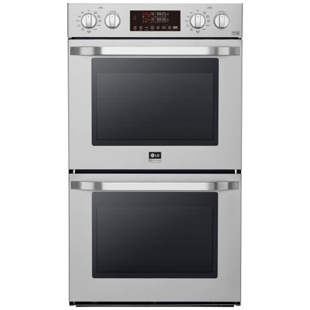 """LG STUDIO 30"""" 4.7 Cu. Ft. Smart Wi-Fi Enabled Double Built-In Wall Oven - Stainless Steel, , large"""