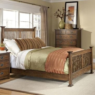 Hawthorne Furniture Queen Slat Panel Bed in Mission, , large