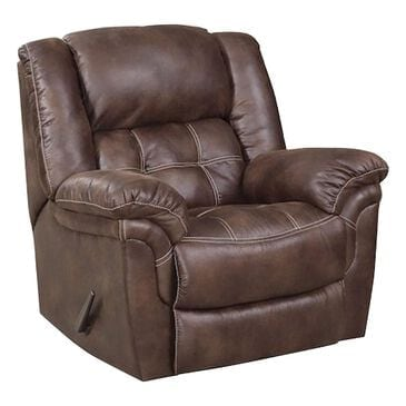 HomeStretch Manual Rocker Recliner in Chocolate, , large