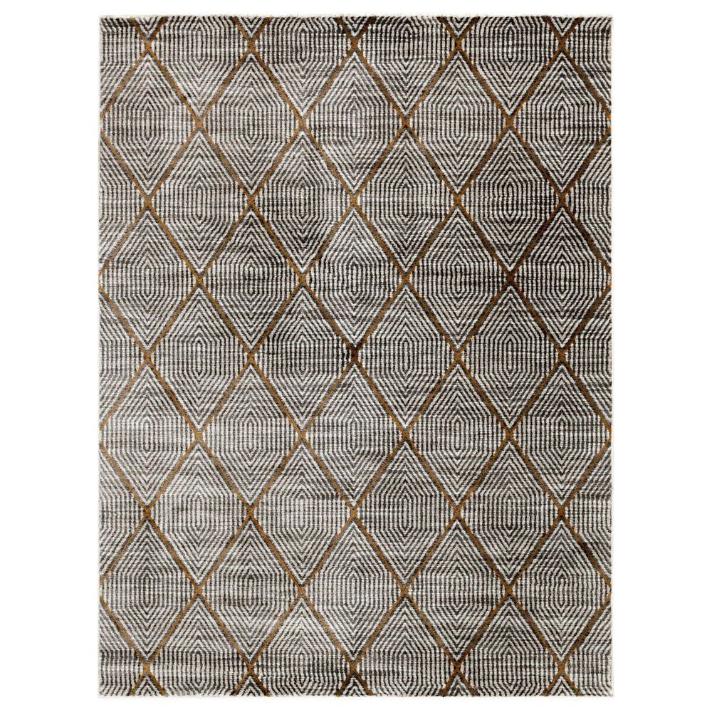 Central Oriental Adore Marvin 9270WCN 5' x 8' Whitecap and Nectar Area Rug, , large