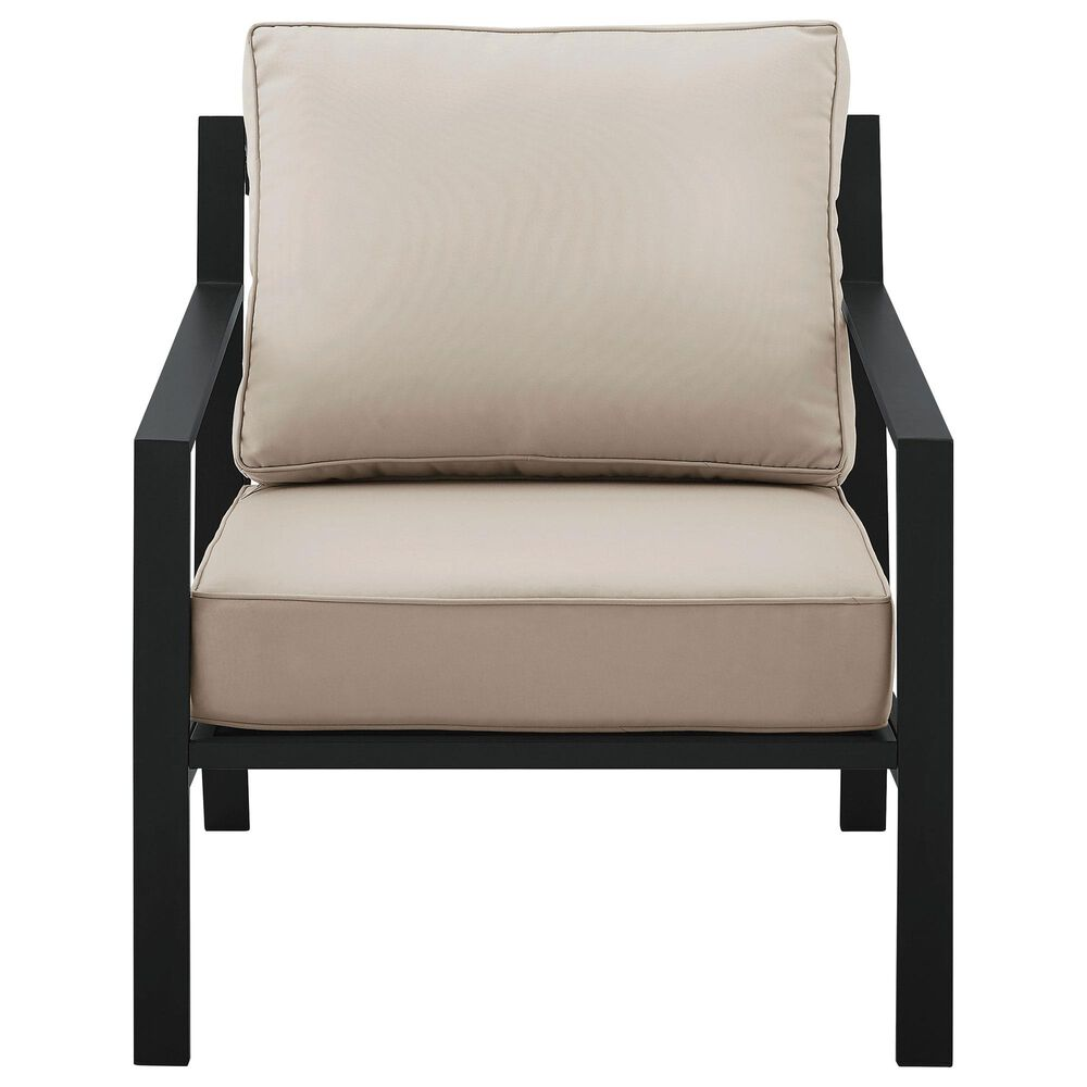 Accentric Approach Patio Accent Chair in Black, , large