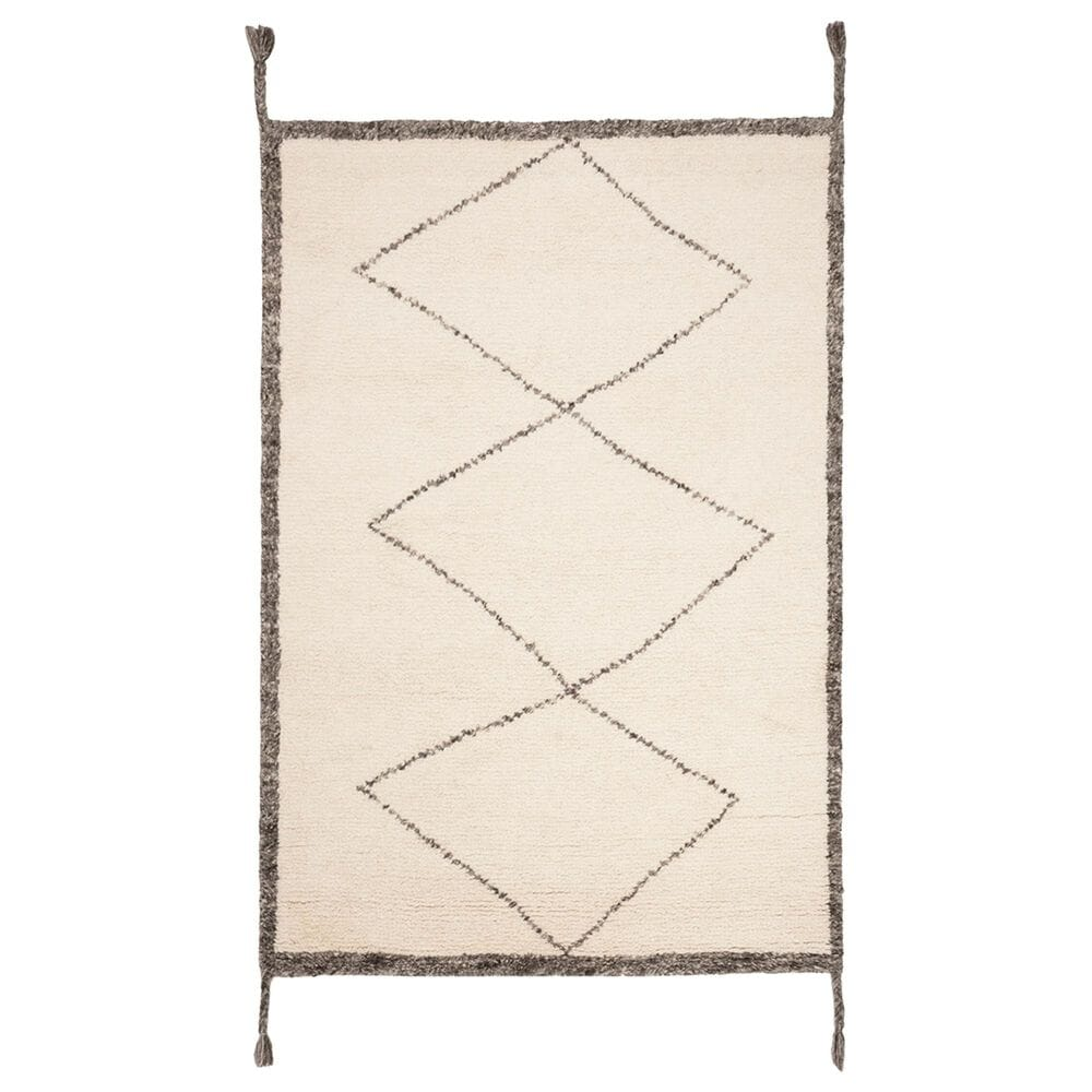 Safavieh Casablanca CSB911A 4' x 6' Ivory and Charcoal Area Rug, , large