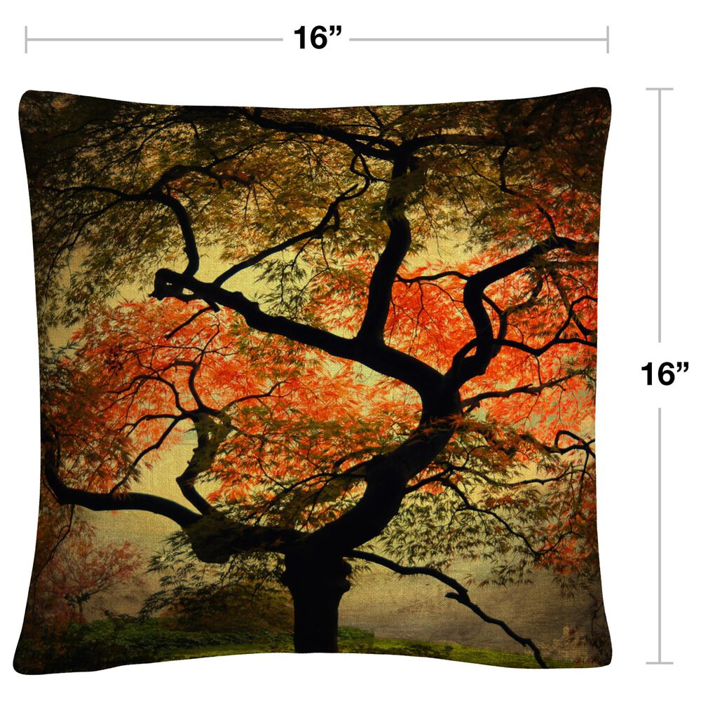 Timberlake Philippe Sainte-Laudy 'Japanese' 16 x 16 Decorative Throw Pillow, , large