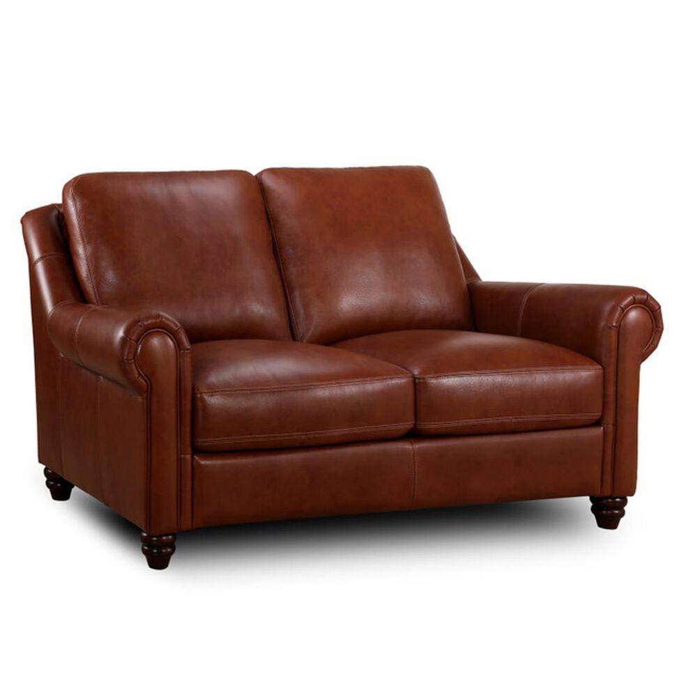 Sienna Designs Leather Loveseat in Chestnut, , large