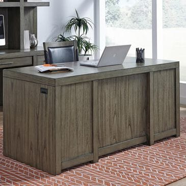"Riva Ridge Modern Loft 66"" Executive Desk in Greystone, , large"