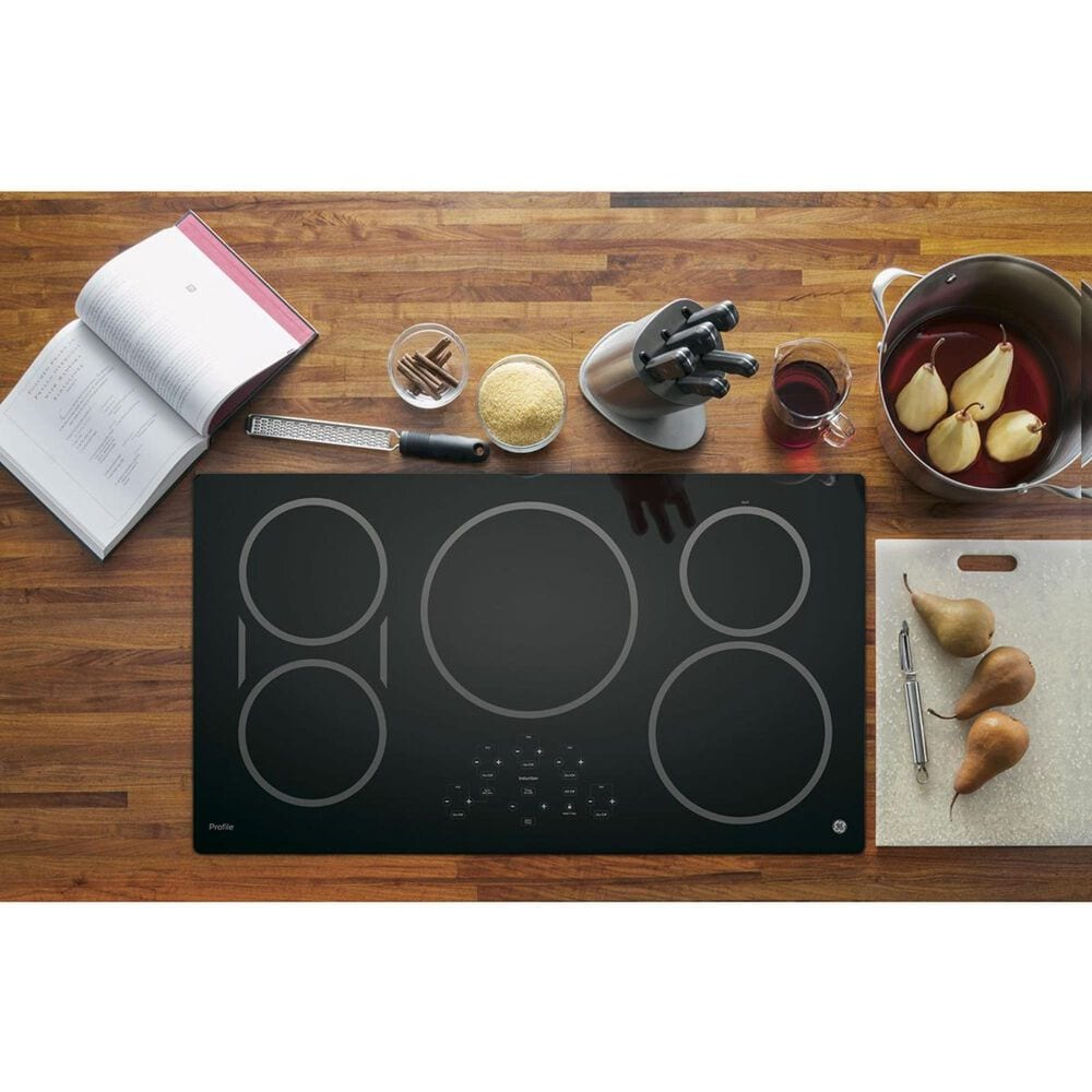"""GE Profile 2- Piece Kitchen Bundle with a 36"""" Induction Cooktop and a 30"""" Built-In Combination Microwave/Wall Oven in Stainless Steel, , large"""