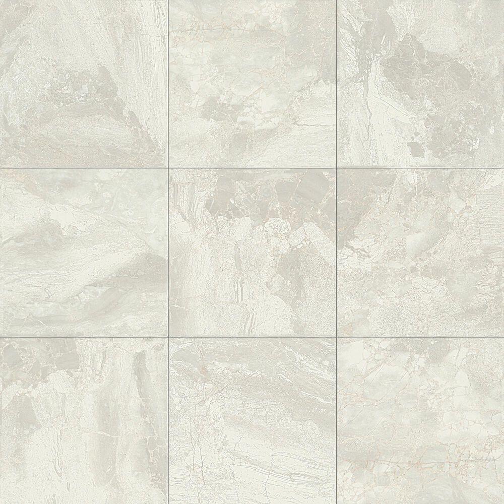 "Dal-Tile Marble Falls White Water 18"" x 18"" Glazed Ceramic Tile, , large"
