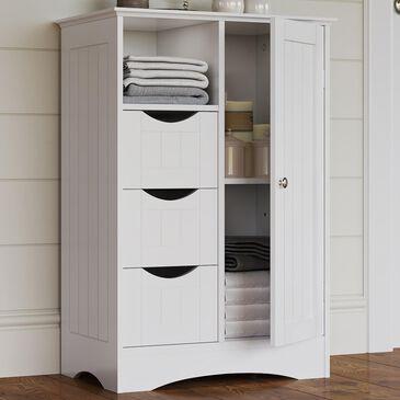 RiverRidge Home Ashland 1-Door Floor Cabinet in White, , large