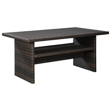 Signature Design by Ashley Easy Isle Rectangular Table in Dark Brown and Beige, , large