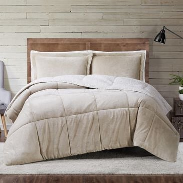 Pem America Truly Soft Cuddle Warmth 3-Piece Full/Queen Comforter Set in Tan, , large