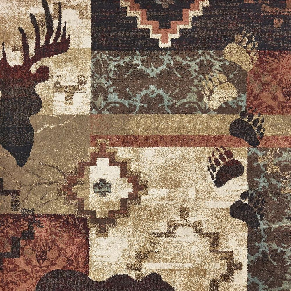 """Oriental Weavers Woodlands 9649A 1'10"""" x 3' Brown Area Rug, , large"""