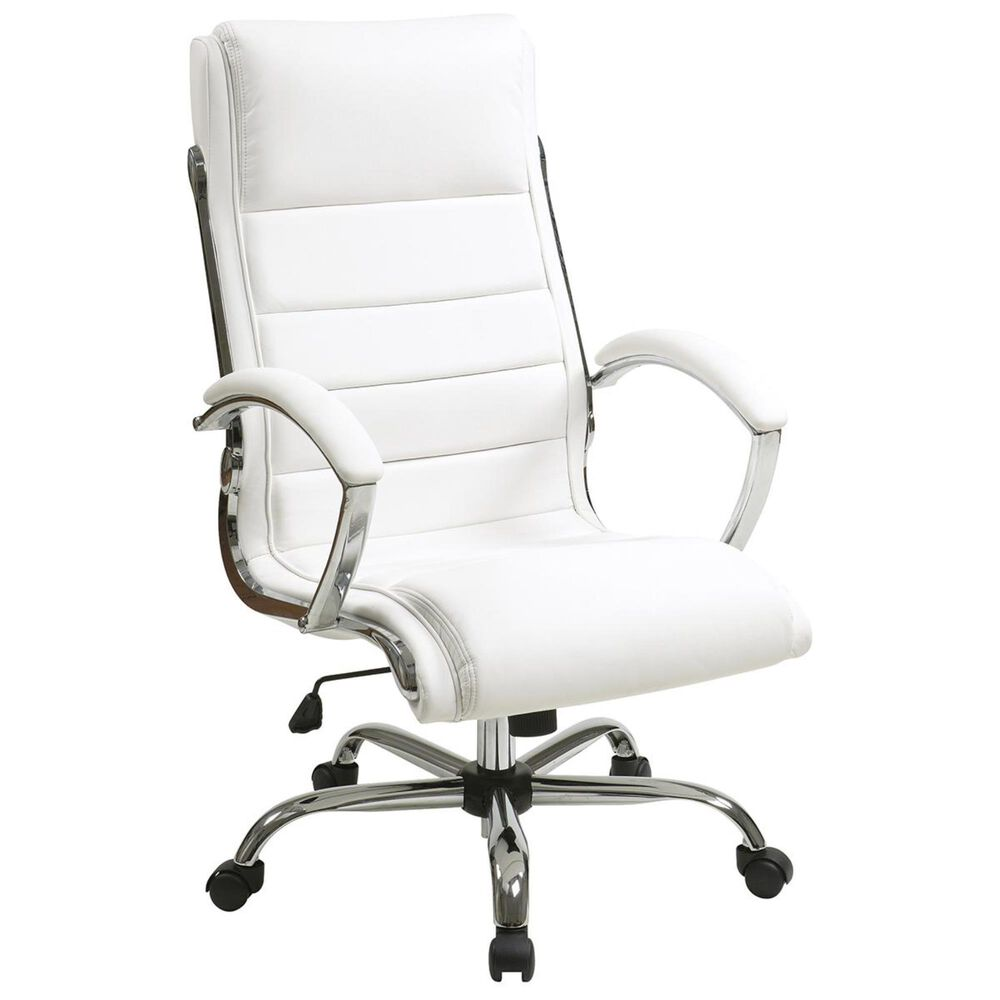 OSP Home FL Series Executive Chair in White, , large