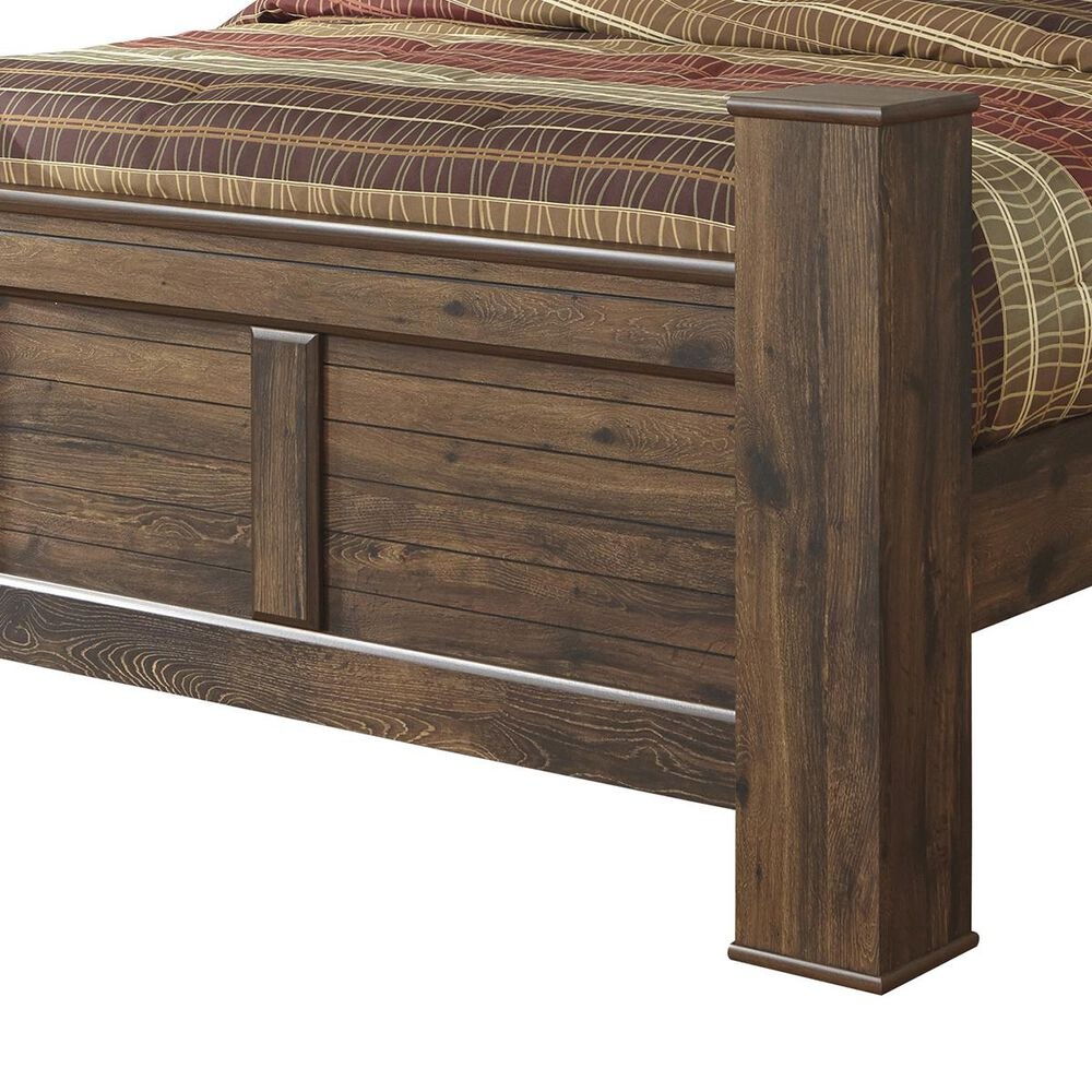 Signature Design by Ashley Quinden Queen Poster Bed in Dark Brown, , large
