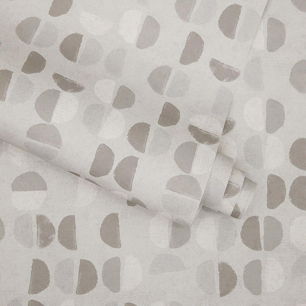 Tempaper Coffee Beans Stone Grey Peel and Stick Wallpaper, , large