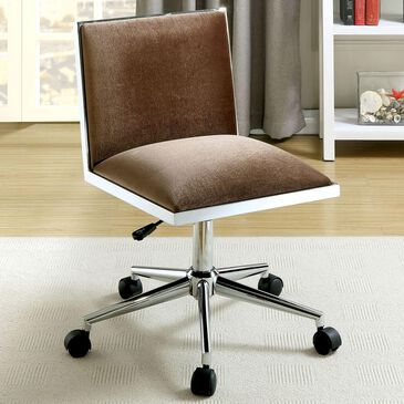 Furniture of America Simon Office Chair in Brown, , large