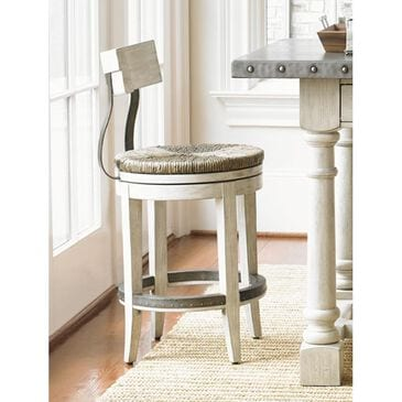 Lexington Furniture Oyster Bay Merrick Swivel Counter Stool in Oyster, , large