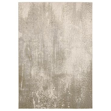 Feizy Rugs Aura 3739F 8' x 11' Ivory and Gold Area Rug, , large