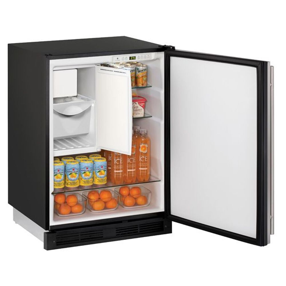 "U-Line 24"" Built-in Refrigerator/Freezer Combo in Black, , large"
