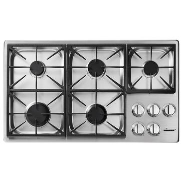 """Dacor Heritage 36"""" Dual Gas Cooktop in Stainless Steel, , large"""