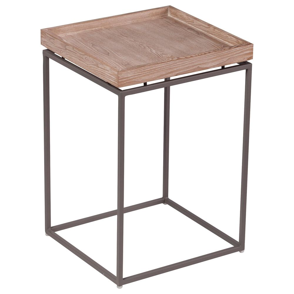 Southern Enterprises Escavia 3-Piece Occasional Table Set in Brown and Black, , large
