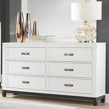 Riva Ridge Hyde Park 6 Drawer Dresser in White, , large