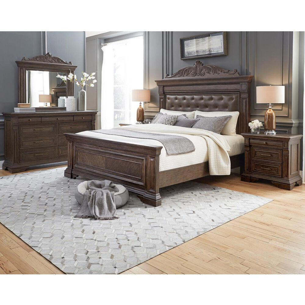 Chapel Hill Bedford Heights Charging Nightstand in Estate Brown, , large