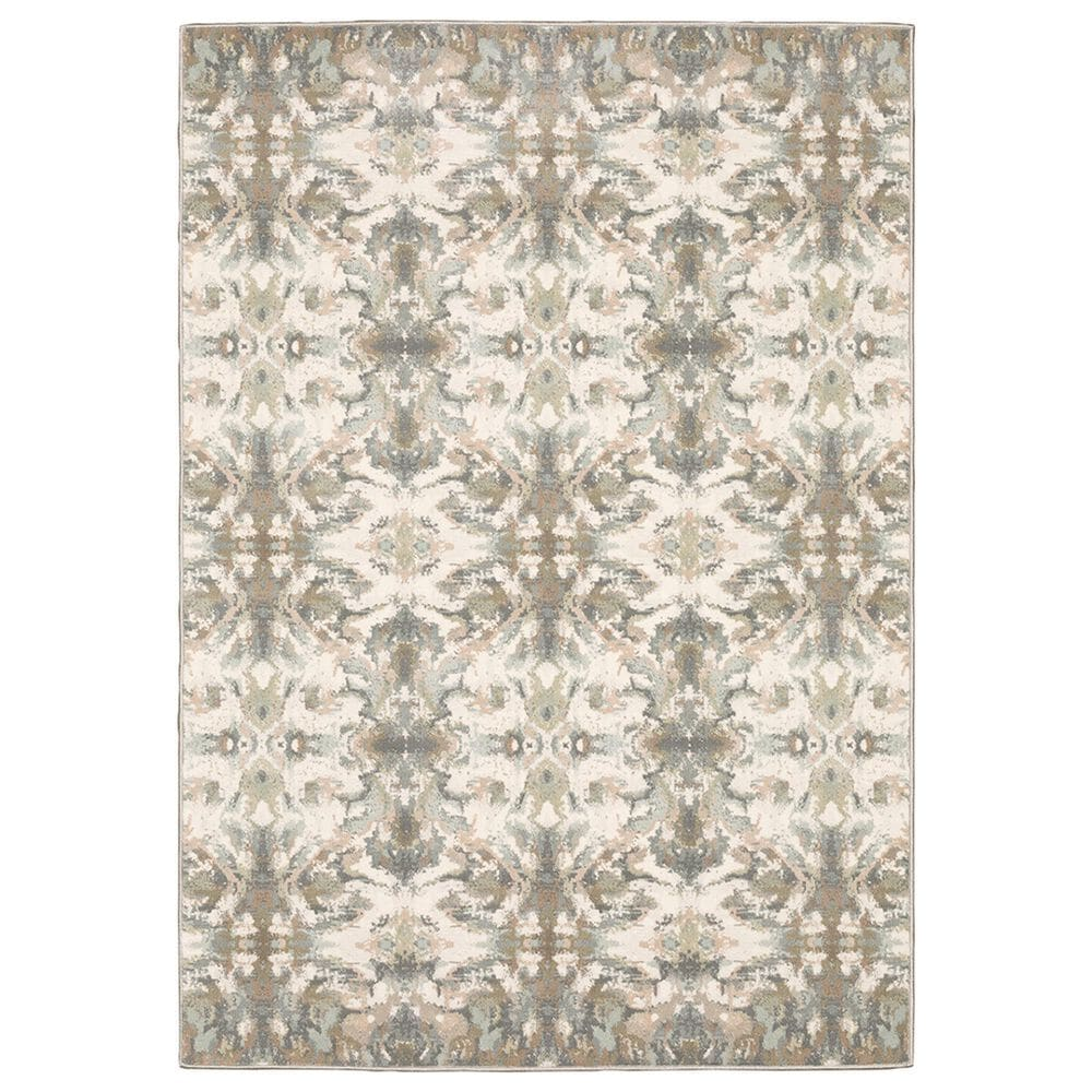"Oriental Weavers Capistrano Distressed 535B1 9""10"" x 12""10"" White Area Rug, , large"