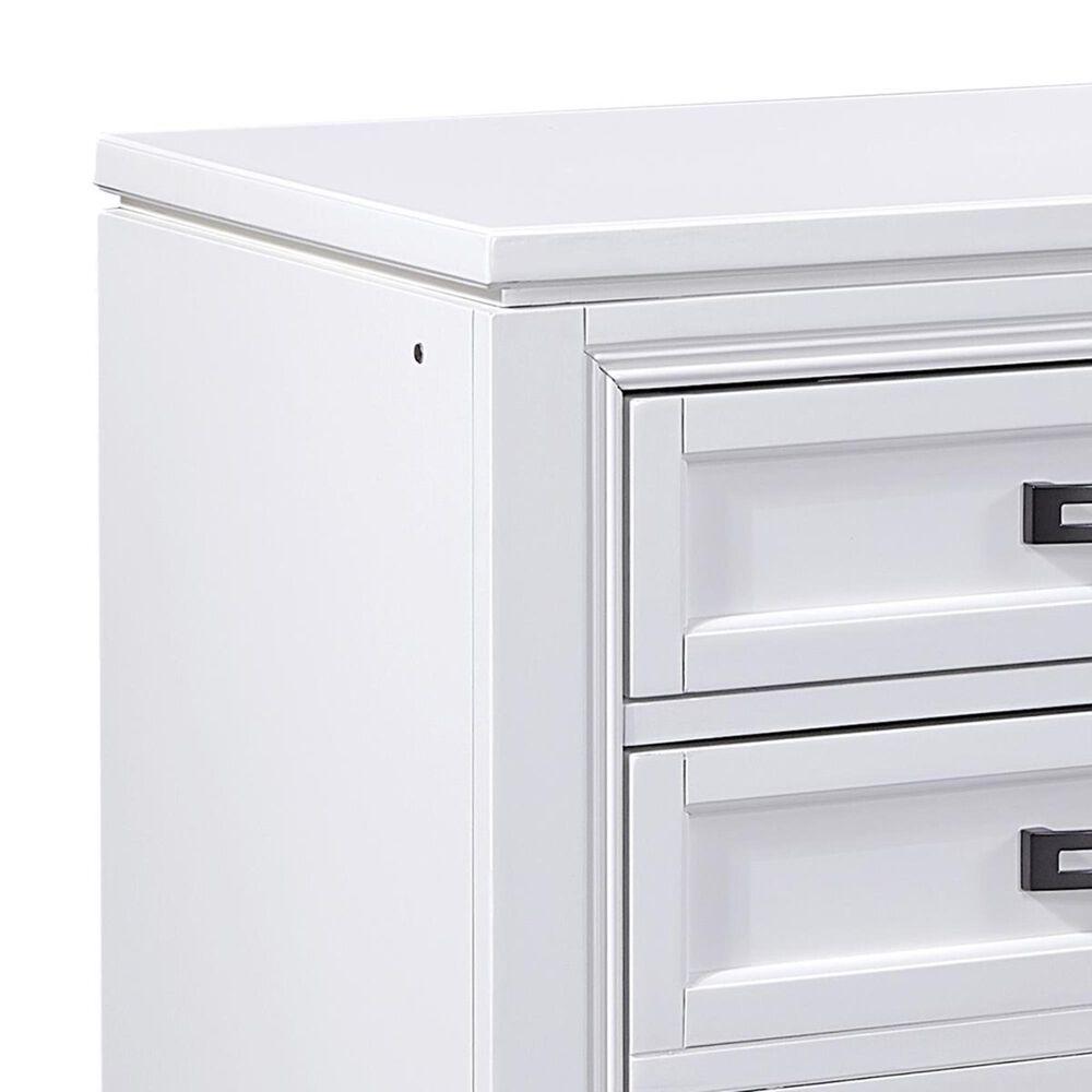 Riva Ridge Hyde Park Queen 4 Piece Bedroom Set in White, , large