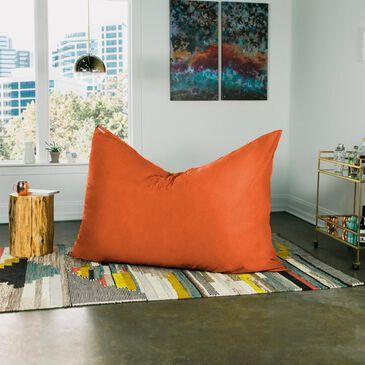 Jaxx 5.5' Pillow Bean Bag Pillow in Mandarin, , large