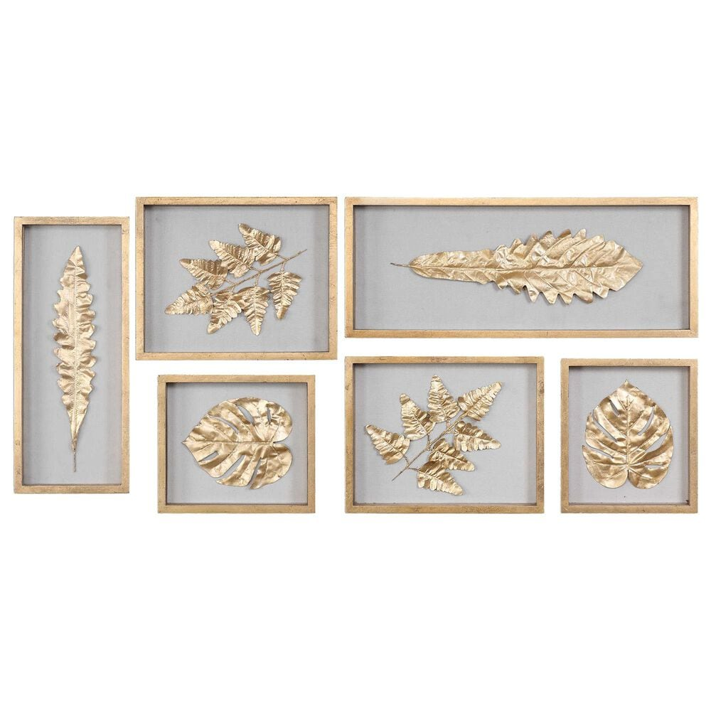 Uttermost Leaves Shadow Box (Set of 6), , large