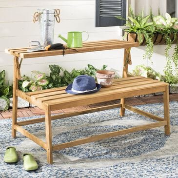 Safavieh Ruben Bench and Table in Teak, , large