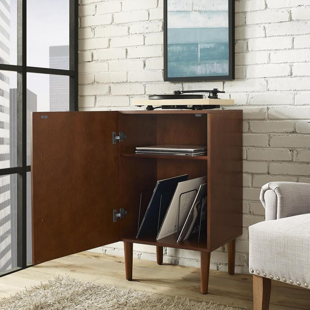 Crosley Furniture Everett Record Player Stand in Mahogany, , large