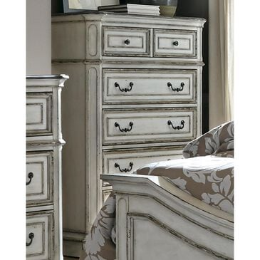 Belle Furnishings Magnolia Manor Chest in Antique White, , large