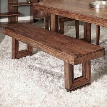 Shell Island Furniture Brownstone Dining Bench in Nut Brown, , large