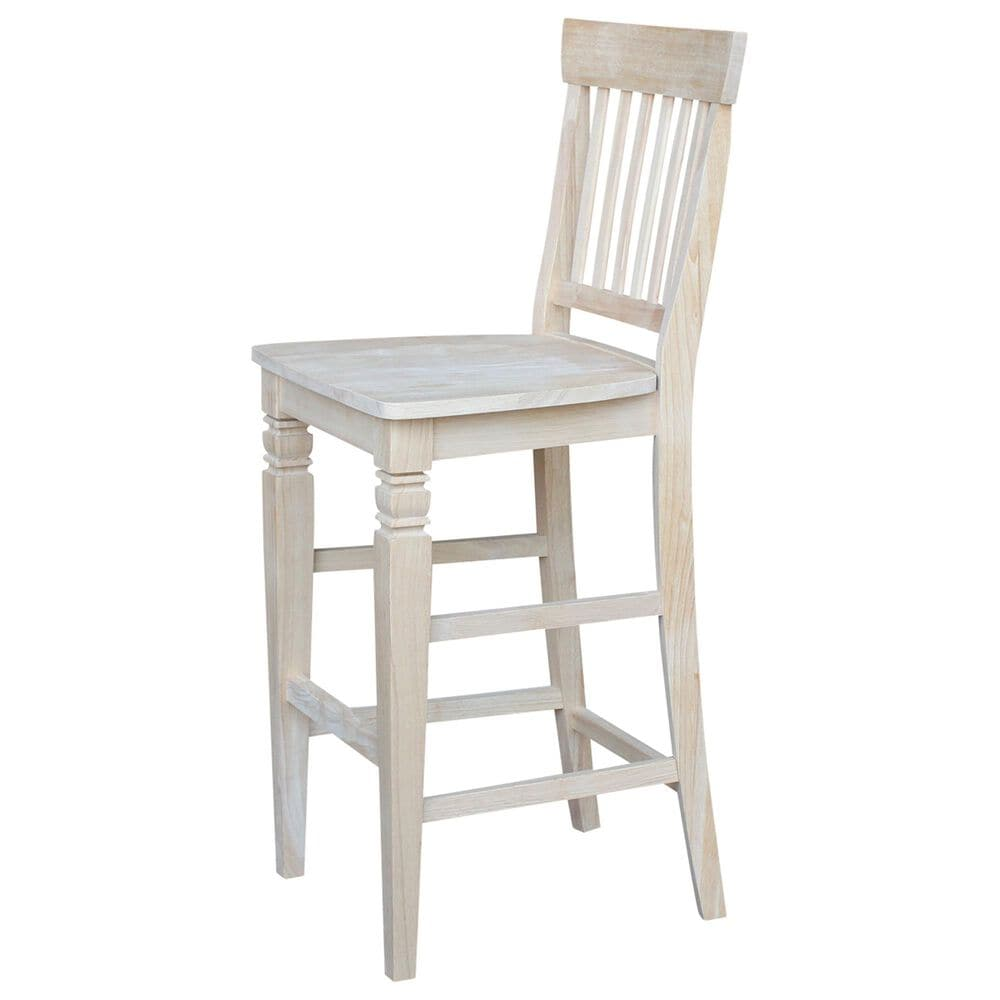 """International Concepts Seattle 30"""" Bar Stool in Unfinished, , large"""
