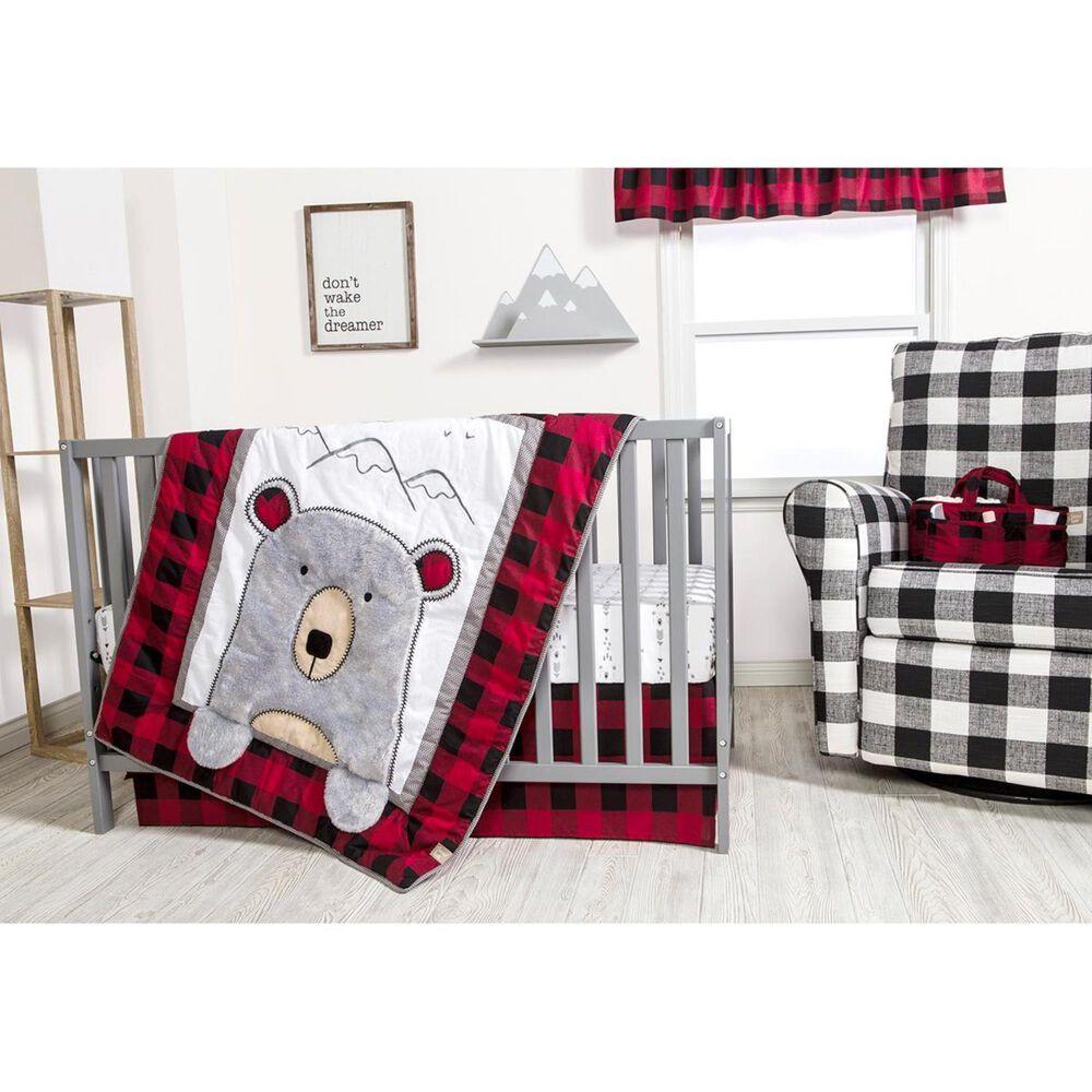 Trend Labs Peak-a-Bear 3-Piece Crib Bedding Set in Gray, , large