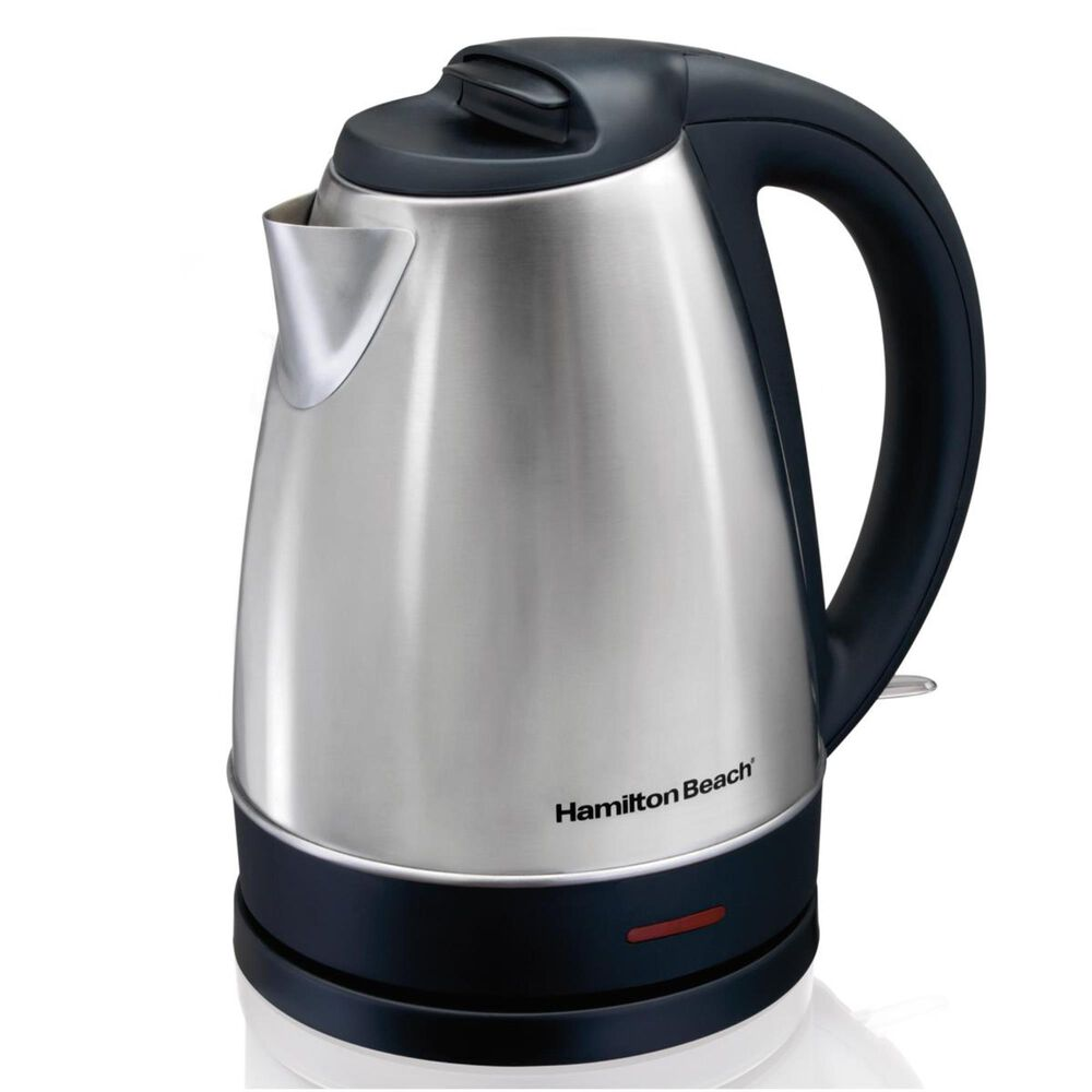 Hamilton Beach 1.7 Liter Stainless Steel Electric Kettle, , large