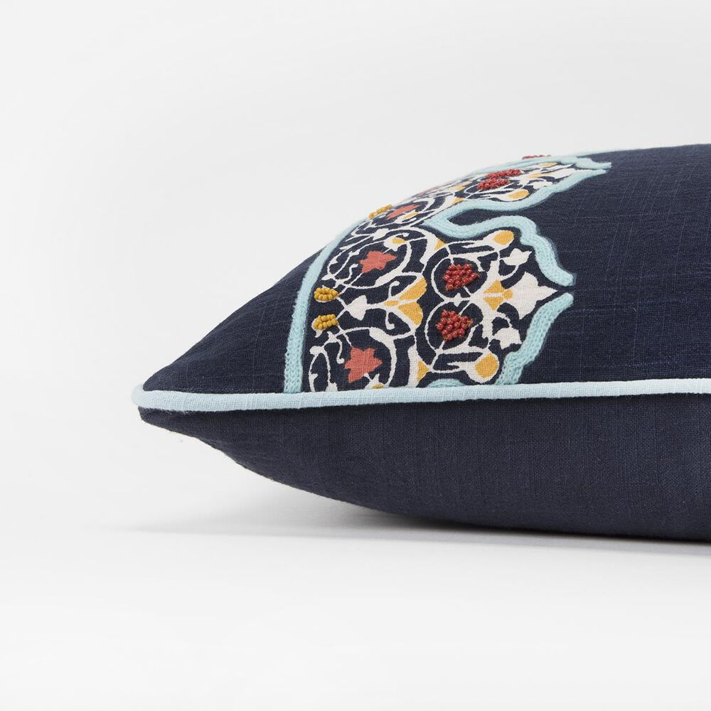 """Rizzy Home Donny Osmond 14"""" x 26"""" Pillow Cover in Indigo and Teal, , large"""