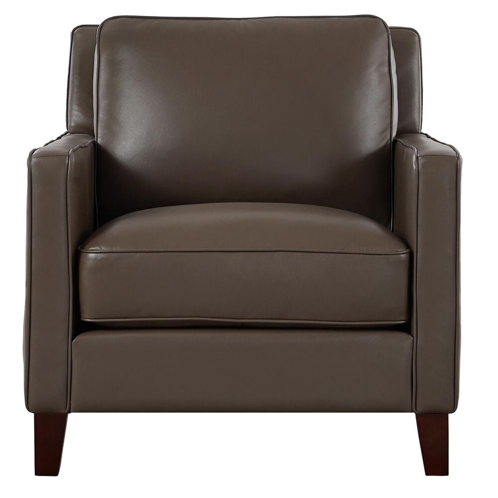 Back Nine Leather New Haven Leather Chair in Bedford Granite, , large