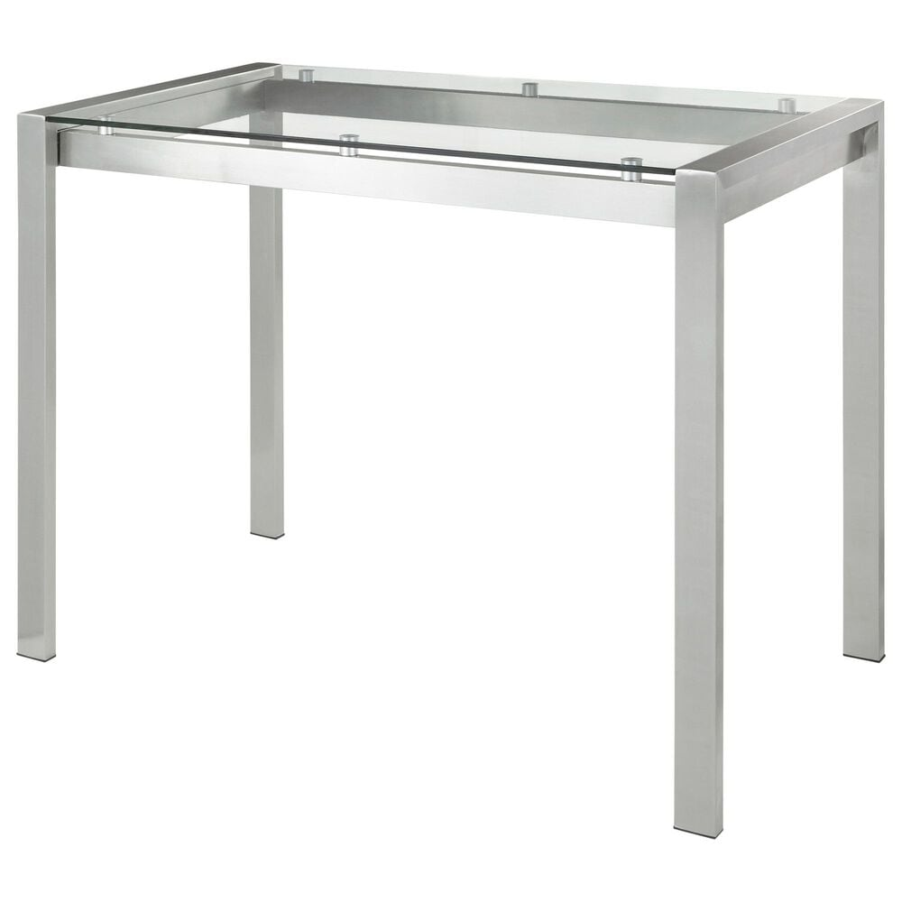Lumisource Fuji Counter Table in Clear/Stainless Steel, , large