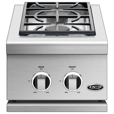 """Fisher and Paykel 14"""" Natural Gas Double Side Burner in Stainless Steel, , large"""