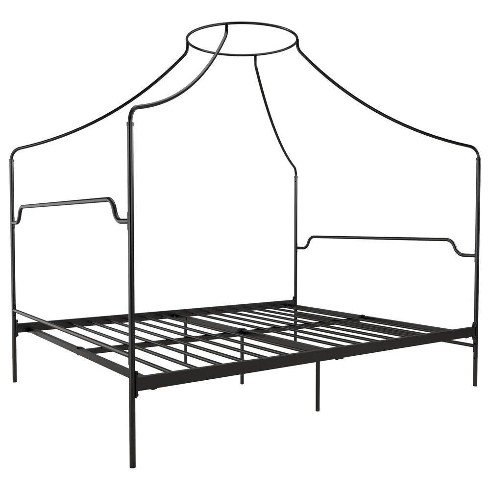 Novogratz Camilla Queen Canopy Bed in Black, , large