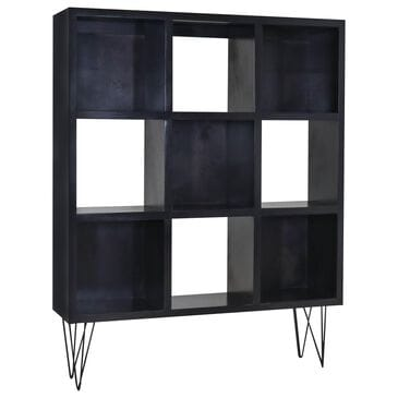 New Wave Furniture 6-Cube Tall Bookcase in Cappuccino and Black, , large