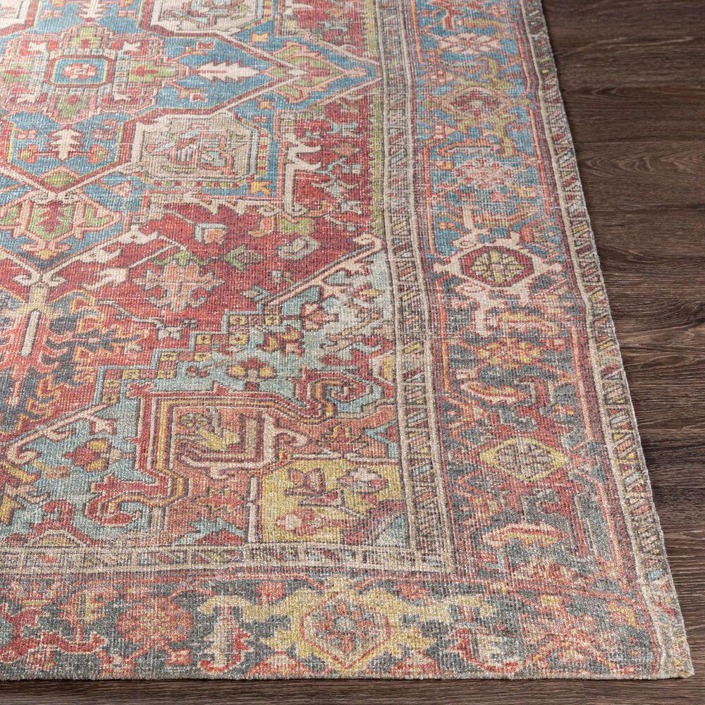 Surya Unique UNQ-2312 2' x 3' Orange, Teal and Camel Area Rug, , large